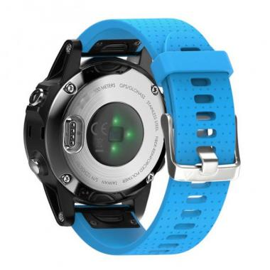 РЕМЕШОК GARMIN FENIX 5S|FENIX 5S PLUS|20 MM (СИЛИКОН) QUICK FIT BLUE (ГОЛУБОЙ) 010-70000-39