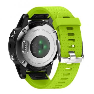 РЕМЕШОК GARMIN FENIX 5S|FENIX 5S PLUS 20 MM (СИЛИКОН) QUICK FIT GREEN (САЛАТОВЫЙ) 010-70000-34