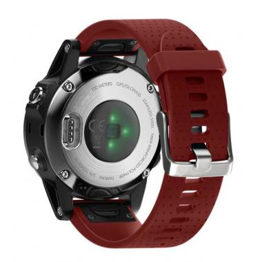 РЕМЕШОК GARMIN FENIX 5S|FENIX 5S PLUS|20 MM (СИЛИКОН) QUICK FIT RED (КРАСНЫЙ) 010-70000-32