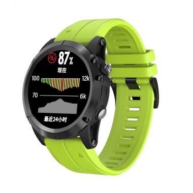 РЕМЕШОК ДЛЯ GARMIN FENIX 5 PLUS 22 MM (СИЛИКОН) QUICKFIT GREEN (САЛАТОВЫЙ) 010-70000-60
