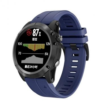 РЕМЕШОК ДЛЯ GARMIN FENIX 5 PLUS 22 MM (СИЛИКОН) QUICKFIT NAVY BLUE (ТЕМНО СИНИЙ) 010-70000-65