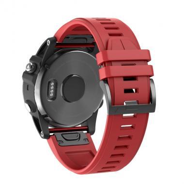 РЕМЕШОК ДЛЯ GARMIN FENIX 5 PLUS 22 MM (СИЛИКОН) QUICKFIT RED (КРАСНЫЙ) 010-70000-58