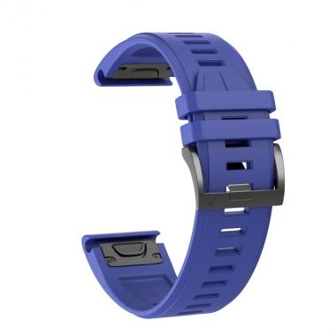 РЕМЕШОК ДЛЯ GARMIN FENIX 5 PLUS 22 MM (СИЛИКОН) QUICKFIT ROYAL BLUE (СИНИЙ) 010-70000-68