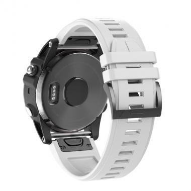 РЕМЕШОК ДЛЯ GARMIN FENIX 5 PLUS 22 MM (СИЛИКОН) QUICKFIT WHITE (БЕЛЫЙ) 010-70000-66
