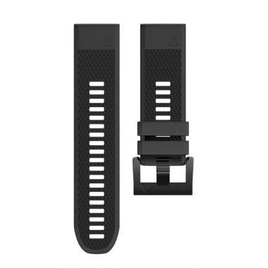 РЕМЕШОК ДЛЯ GARMIN FENIX 5|FENIX 5 PLUS|FORERUNNER 935/945|QUATIX 5|22 MM (СИЛИКОН) QUICKFIT BLACK (ЧЕРНЫЙ) 010-70000-16