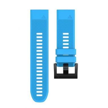 РЕМЕШОК ДЛЯ GARMIN FENIX 5|FENIX 5 PLUS|FORERUNNER 935/945|QUATIX 5|22 MM (СИЛИКОН) QUICKFIT BLUE (ГОЛУБОЙ) 010-70000-23