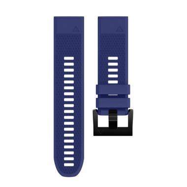 РЕМЕШОК GARMIN FENIX 5 | FENIX 5 PLUS | FORERUNNER 935/945 22 MM СИЛИКОНОВЫЙ QUICKFIT NAVY BLUE (ТЕМНО СИНИЙ) 010-70000-22