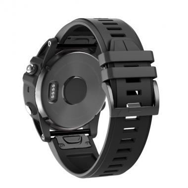 РЕМЕШОК ДЛЯ GARMIN FENIX 5X PLUS 26 MM (СИЛИКОН) QUICKFIT BLACK (ЧЕРНЫЙ) 010-70000-42