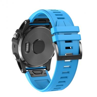 РЕМЕШОК ДЛЯ GARMIN FENIX 5X PLUS 26 MM (СИЛИКОН) QUICKFIT BLUE (ГОЛУБОЙ) 010-70000-52