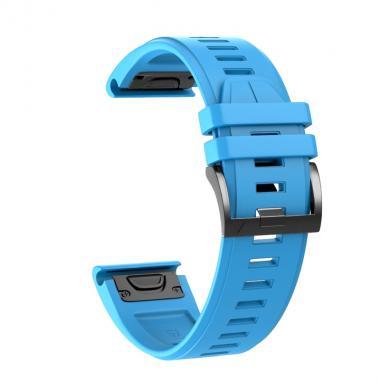 РЕМЕШОК ДЛЯ GARMIN FENIX 5X PLUS 26 MM (СИЛИКОН) QUICKFIT BLUE (ГОЛУБОЙ) 010-70000-52