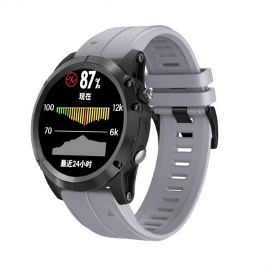 РЕМЕШОК ДЛЯ GARMIN FENIX 5X PLUS 26 MM (СИЛИКОН) QUICKFIT GREY (СЕРЫЙ) 010-70000-49
