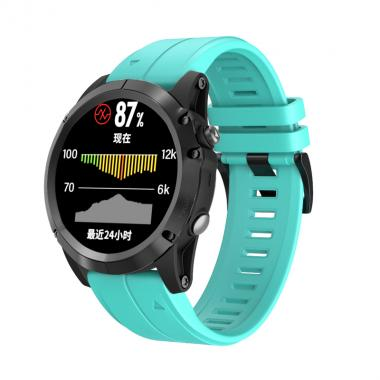 РЕМЕШОК ДЛЯ GARMIN FENIX 5X PLUS 26 MM (СИЛИКОН) QUICKFIT MINT (МЯТНЫЙ) 010-70000-54