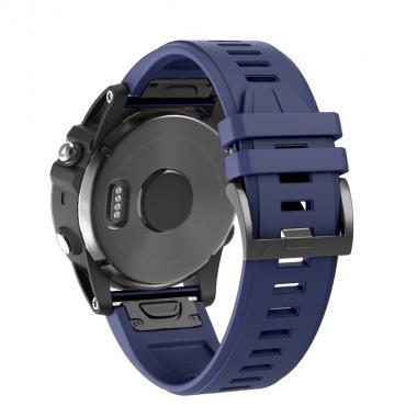 РЕМЕШОК GARMIN FENIX 5X PLUS 26 MM СИЛИКОНОВЫЙ QUICKFIT NAVY BLUE (ТЕМНО СИНИЙ) 010-70000-50