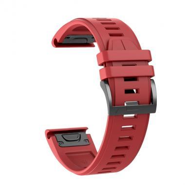 РЕМЕШОК ДЛЯ GARMIN FENIX 5X PLUS 26 MM (СИЛИКОН) QUICKFIT RED (КРАСНЫЙ) 010-70000-43