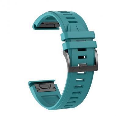 РЕМЕШОК ДЛЯ GARMIN FENIX 5X PLUS 26 MM (СИЛИКОН) QUICKFIT ROCK BLUE (БИРЮЗОВЫЙ) 010-70000-55
