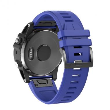 РЕМЕШОК ДЛЯ GARMIN FENIX 5X PLUS 26 MM (СИЛИКОН) QUICKFIT ROYAL BLUE (СИНИЙ) 010-70000-53