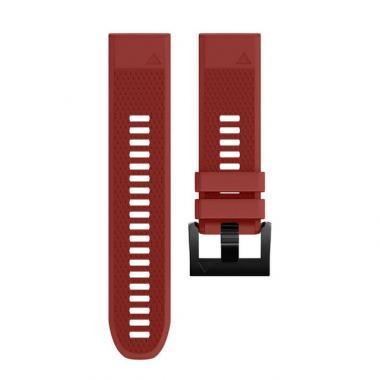 РЕМЕШОК GARMIN FENIX 3| FENIX 5X| FENIX 5X PLUS| TACTIX| DESCENT| D2| 26 MM СИЛИКОНОВЫЙ QUICKFIT RED (КРАСНЫЙ) 010-70000-01