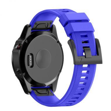 РЕМЕШОК ДЛЯ GARMIN FENIX 3|FENIX 5X|FENIX 5X PLUS|TACTIX|DESCENT|D2| 26 MM (СИЛИКОН) QUICKFIT ROYAL BLUE (СИНИЙ) 010-70000-11