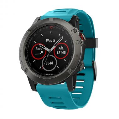 РЕМЕШОК ДЛЯ GARMIN FENIX 3|FENIX 3 HR|TACTIX|26 MM (СИЛИКОН) BLUE (ГОЛУБОЙ) 010-70000-80