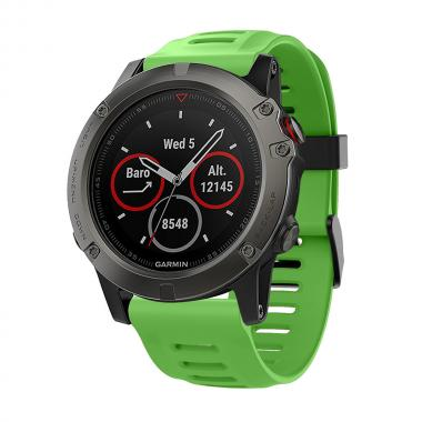 РЕМЕШОК ДЛЯ GARMIN FENIX 3|FENIX 3 HR|TACTIX|26 MM (СИЛИКОН)  GREEN (ЗЕЛЕНЫЙ) 010-70000-75