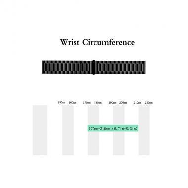РЕМЕШОК GARMIN FENIX 6 | FENIX 6 PRO | FENIX 5 | FENIX 5 PLUS | FORERUNNER 945  - МЕТАЛЛИЧЕСКИЙ 22 MM BLACK (ЧЕРНЫЙ) 010-70002-33
