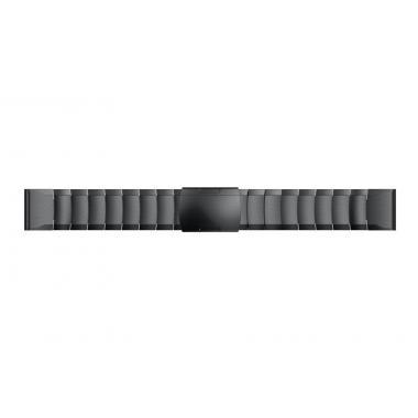 РЕМЕШОК GARMIN FENIX 5 | FENIX 5 PLUS | FENIX 6 |FENIX 6 PRO | FORERUNNER 935/945 | MARQ - МЕТАЛЛИЧЕСКИЙ 22 MM QUICKFIT BLACK (ЧЕРНЫЙ) 010-70000-87