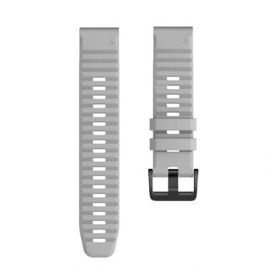 РЕМЕШОК GARMIN FENIX 6X | FENIX 6X PRO | FENIX 6X PRO SOLAR - СИЛИКОНОВЫЙ  26 MM QUICKFIT GRAY (СЕРЫЙ) 010-70000-99