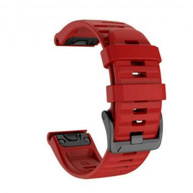 РЕМЕШОК GARMIN FENIX 6 | FENIX 6 PRO | FENIX 6 PRO SAPPHIRE - СИЛИКОНОВЫЙ  22 MM QUICKFIT RED (КРАСНЫЙ) 010-70002-09