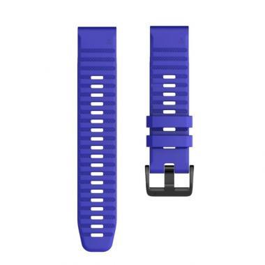РЕМЕШОК GARMIN FENIX 6X | FENIX 6X PRO | FENIX 6X PRO SOLAR - СИЛИКОНОВЫЙ  26 MM QUICKFIT ROYAL BLUE (СИНИЙ) 010-70002-02