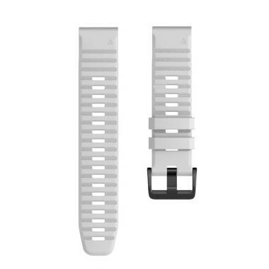 РЕМЕШОК GARMIN FENIX 6 | FENIX 6 PRO | FENIX 6 PRO SAPPHIRE - СИЛИКОНОВЫЙ  22 MM QUICKFIT WHITE (БЕЛЫЙ) 010-70002-19