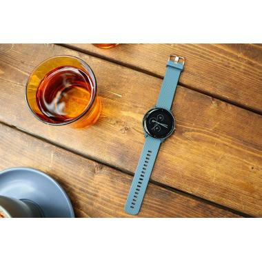 ЧАСЫ GARMIN VIVOACTIVE 3 MUSIC GRANITE BLUE WITH ROSE GOLD HARDWARE 010-01985-33
