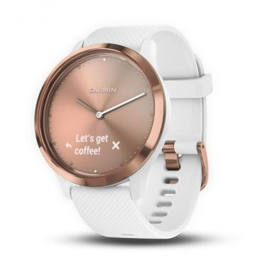 ЧАСЫ GARMIN VIVOMOVE HR SPORT ROSE GOLD WHITE SMALL/MEDIUM 010-01850-22