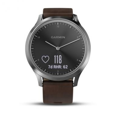ЧАСЫ GARMIN VIVOMOVE HR PREMIUM BLACK SILVER DARK BROWN LARGE 010-01850-24