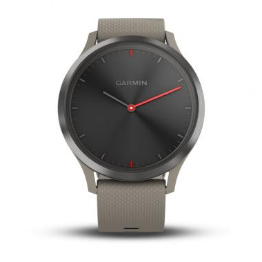 ЧАСЫ GARMIN VIVOMOVE HR SPORT BLACK WITH SANDSTONE SILICONE BAND ONE SIZE 010-01850-03