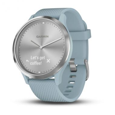 ЧАСЫ GARMIN VIVOMOVE HR SPORT SILVER WITH SEA FOAM SILICONE BAND SMALL/MEDIUM 010-01850-08