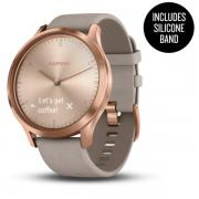 VIVOMOVE HR PREMIUM ROSE-GOLD WITH GREY SUEDE BAND ONE-SIZE 010-01850-09