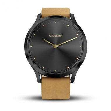 ЧАСЫ GARMIN VIVOMOVE HR PREMIUM ONYX BLACK WITH TAN SUEDE BAND ONE-SIZE 010-01850-00