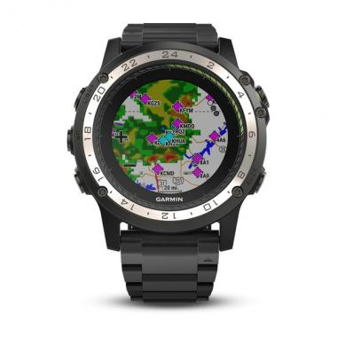 ЧАСЫ GARMIN D2 CHARLIE TITANIUM BEZEL WITH TITANIUM AND SILICONE BANDS 010-01733-33
