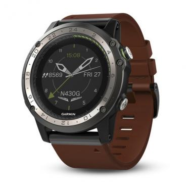 ЧАСЫ GARMIN D2 CHARLIE TITANIUM BEZEL WITH LEATHER AND SILICONE BANDS 010-01733-31