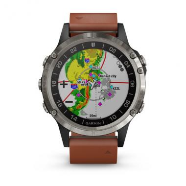 ЧАСЫ GARMIN D2 DELTA AVIATOR WATCH WITH BROWN LEATHER BAND 010-01988-31