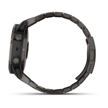 ЧАСЫ GARMIN FENIX 5X PLUS SAPPHIRE CARBON GRAY DLC TITANIUM WITH DLC TITANIUM BAND 010-01989-05