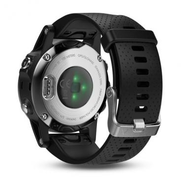 ЧАСЫ GARMIN FENIX 5S SILVER WITH BLACK BAND 010-01685-02