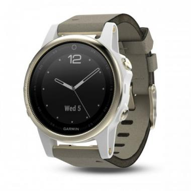 ЧАСЫ GARMIN FENIX 5S SAPPHIRE CHAMPAGNE WITH SUEDE BAND 010-01685-13