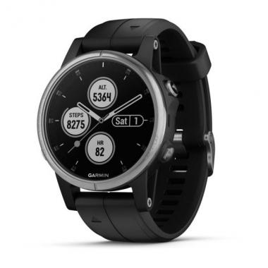 ЧАСЫ GARMIN FENIX 5S PLUS BLACK WITH BLACK BAND 010-01987-21