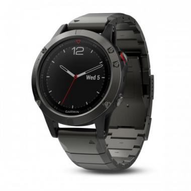 ЧАСЫ GARMIN FENIX 5 SLATE GRAY SAPPHIRE WITH METAL BAND 010-01688-21