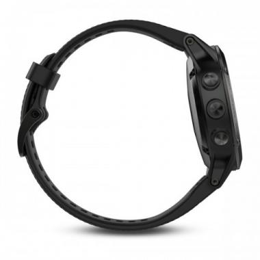 ЧАСЫ GARMIN FENIX 5 SAPPHIRE BLACK WITH BLACK BAND И HRM-TRI 010-01688-32