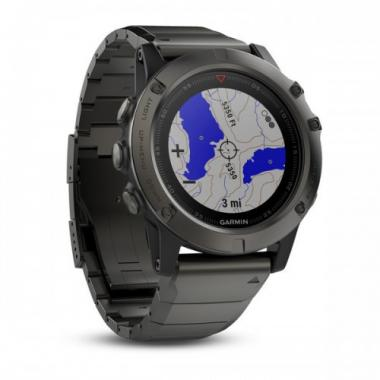ЧАСЫ GARMIN FENIX 5X SAPPHIRE SLATE GRAY WITH BLACK BAND 010-01733-03