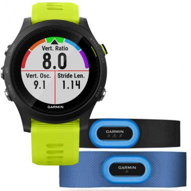 ЧАСЫ GARMIN FORERUNNER 935 TRI-BUNDLE BLACK WITH YELLOW STRAPS 010-01746-06