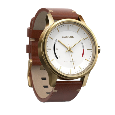 ЧАСЫ GARMIN VIVOMOVE HR PREMIUM GOLD TONE LIGHT BROWN SMALL/MEDIUM 010-01850-25