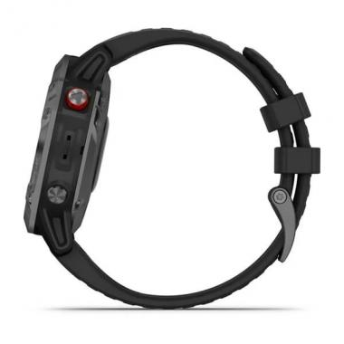 GARMIN FENIX 6 PRO SOLAR EDITION SLATE GRAY WITH BLACK BAND - 010-02410-15